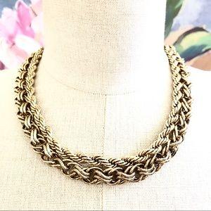 BANANA REPUBLIC double drama gold necklace NWT $69